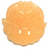 Semi-Precious 38x5mm Round Pendant Yellow Jade